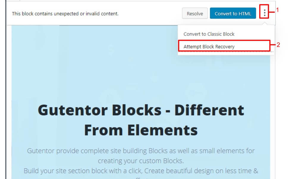 This block contains unexpected or invalid content- solutions
