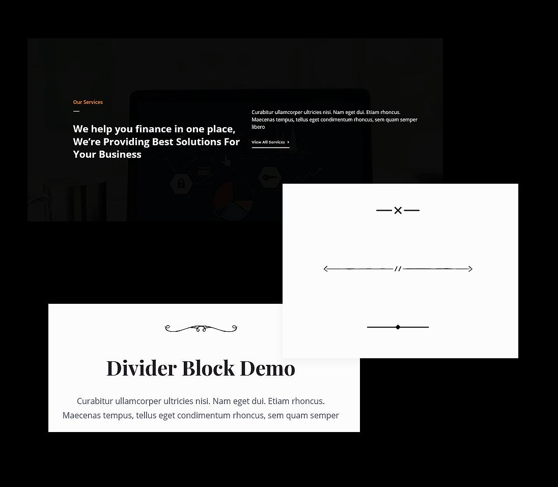 Gutenberg Divider Block